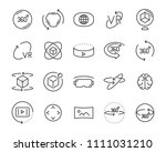 vr vector line icon set  such... | Shutterstock .eps vector #1111031210