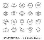 vr vector line icon set  such... | Shutterstock .eps vector #1111031618