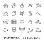 set of fantasy icon  magic... | Shutterstock .eps vector #1111031648