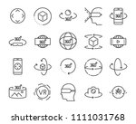 vr vector line icon set  such... | Shutterstock .eps vector #1111031768