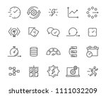 simple set of vector line icon  ...   Shutterstock .eps vector #1111032209