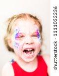 portraitl of little girl... | Shutterstock . vector #1111032236