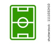vector soccer stadium... | Shutterstock .eps vector #1111032410