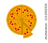 vector slice of pizza   fast... | Shutterstock .eps vector #1111032524