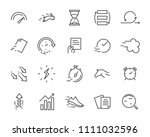 simple set of vector line icon  ... | Shutterstock .eps vector #1111032596
