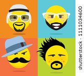 emojis smileys with beard   Shutterstock .eps vector #1111034600