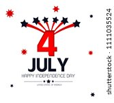 4th of july. usa independence... | Shutterstock .eps vector #1111035524