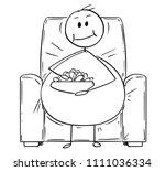 cartoon stick drawing... | Shutterstock .eps vector #1111036334