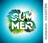 summer sale design with flower  ... | Shutterstock .eps vector #1111037390