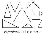 triangles set  various black... | Shutterstock .eps vector #1111037753