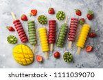 set of colorful popsicles with...   Shutterstock . vector #1111039070