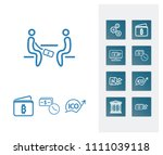 money transfer icon set and...