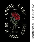 Stock vector every bike lane roses vintage typography t shirt print 1111044464