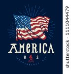 united states 4th of july flag... | Shutterstock .eps vector #1111044479