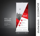 roll up banner design template  ... | Shutterstock .eps vector #1111044749