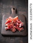traditional spanish jamon... | Shutterstock . vector #1111050773