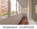 small balcony interior in... | Shutterstock . vector #1111051010
