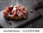 traditional spanish jamon... | Shutterstock . vector #1111051586