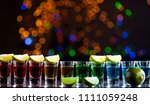 alcoholic drink into small...   Shutterstock . vector #1111059248