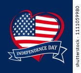 happy independence day of usa... | Shutterstock .eps vector #1111059980