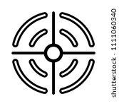 vector target aim illustration. ... | Shutterstock .eps vector #1111060340