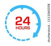 customer support center. 24 7... | Shutterstock .eps vector #1111060358