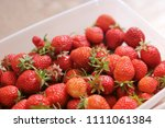 strawberry. strawberries in... | Shutterstock . vector #1111061384