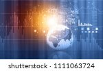 stock market graphs and charts... | Shutterstock . vector #1111063724