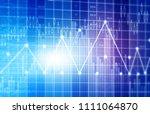 financial stock market graphs... | Shutterstock . vector #1111064870