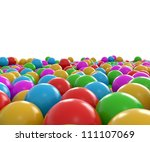 3d balls in rainbow color | Shutterstock . vector #111107069