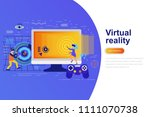 virtual reality modern flat...   Shutterstock .eps vector #1111070738