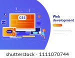 web development modern flat...