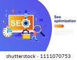 seo optimization modern flat... | Shutterstock .eps vector #1111070753