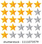 stars rating vector... | Shutterstock .eps vector #1111073579