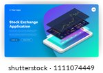 mockup landing page website... | Shutterstock .eps vector #1111074449