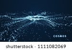array with dynamic particles.... | Shutterstock .eps vector #1111082069