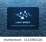 neon light alphabet. dotted... | Shutterstock .eps vector #1111082126