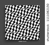 pattern with optical illusion.... | Shutterstock .eps vector #1111082150