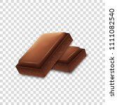 chocolate pieces on transparent ... | Shutterstock .eps vector #1111082540