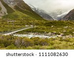 walking track leading to mt... | Shutterstock . vector #1111082630