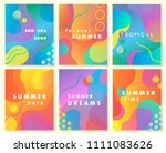 unique artistic summer cards... | Shutterstock .eps vector #1111083626