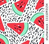 minimal summer trendy vector... | Shutterstock .eps vector #1111093154