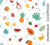 minimal summer trendy vector... | Shutterstock .eps vector #1111093160