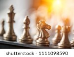 chess board game for ideas and... | Shutterstock . vector #1111098590