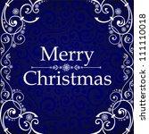 Vintage Christmas Card. Merry...