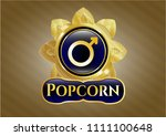gold badge with male icon and ... | Shutterstock .eps vector #1111100648