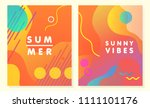unique artistic summer cards... | Shutterstock .eps vector #1111101176