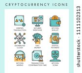 cryptocurrency icons concept...   Shutterstock .eps vector #1111102313