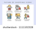 future of shopping concept... | Shutterstock .eps vector #1111102328