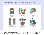 future of shopping concept... | Shutterstock .eps vector #1111102334